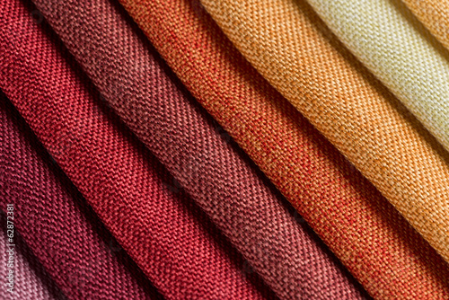 Staande foto Stof Multi color fabric texture samples