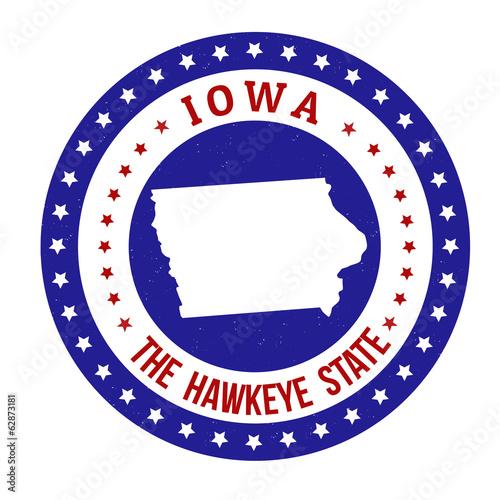 Photo  Iowa stamp