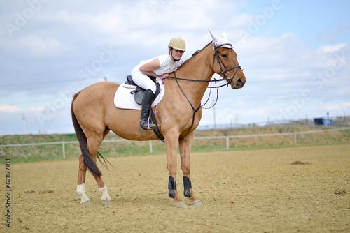 Foto-Schmutzfangmatte - horse jumping (von muro)