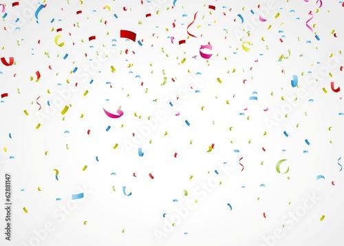 Obraz colorful confetti on white background - fototapety do salonu