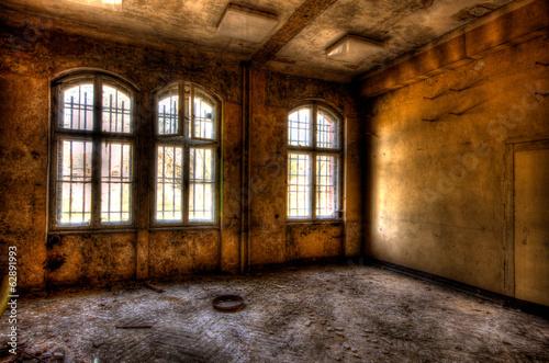 Fototapeta Verlassenes Haus Fenster obraz na płótnie