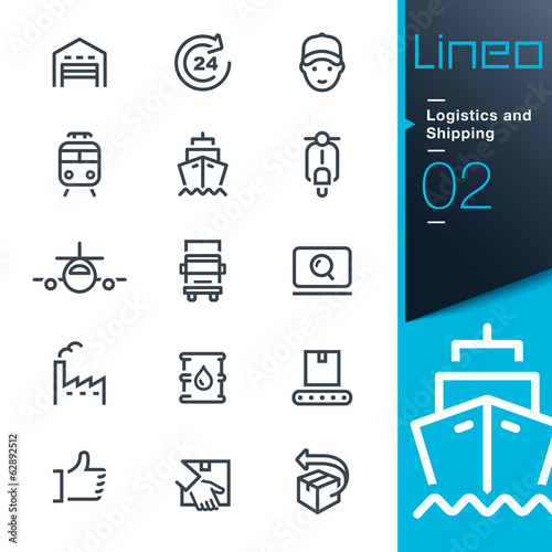 Fotografía  Lineo - Logistics and Shipping outline icons