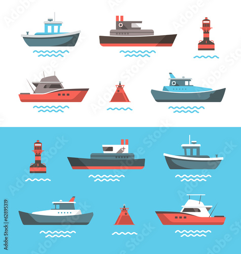Fotomural Vector illustration of boats