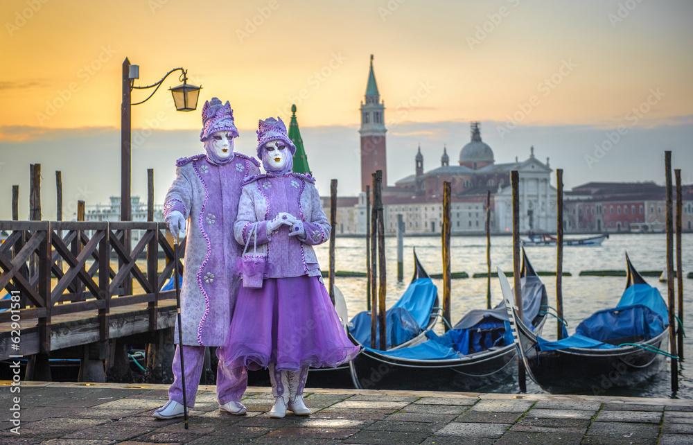 Fototapety, obrazy: Weneckie maski karnawałowe