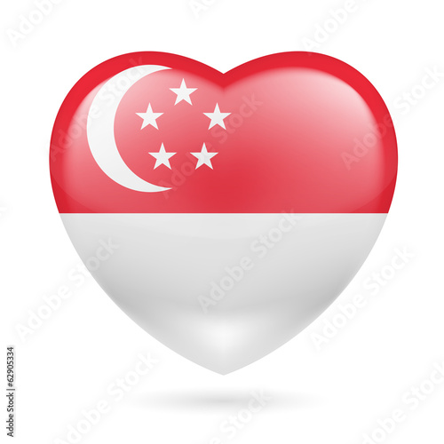 Heart icon of Singapore Poster