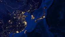 Japan & East China Sea - Night...