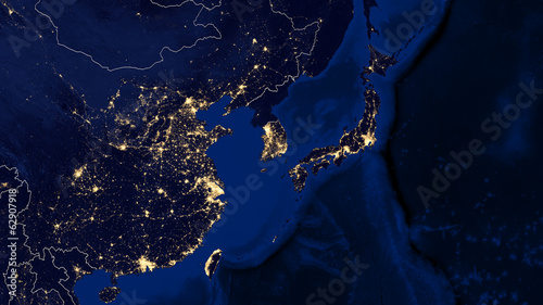 Photo  Japan & East China Sea - Night - 02