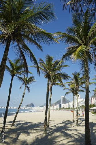 Copacabana Beach Rio de Janeiro Palm Trees Wallpaper Mural