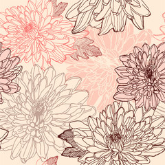 FototapetaChrysanthemum seamless