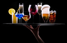Different Alcohol Drinks Set O...