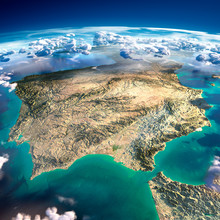 Fragments Of The Planet Earth. Spain And Portugal
