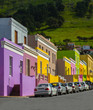 canvas print picture - Perspective view of Bo Kaap District, Cape Town, South Africa