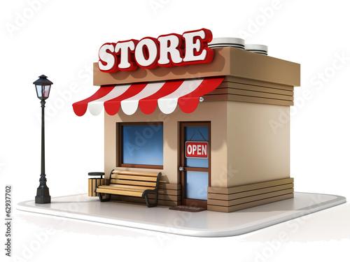 Fotografía  miniature store 3d illustration