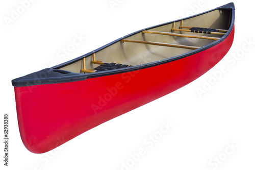Photo red tandem canoe