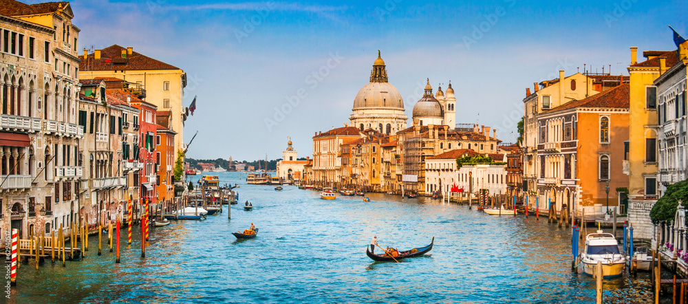 Fototapety, obrazy: Canal Grande panorama at sunset, Venice, Italy