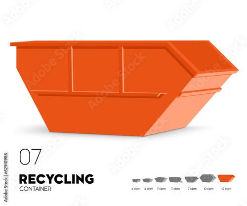 Fotografía  Recycling - Container offen 10 cbm
