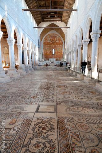 Mosaics and Inside of Basilica di Aquileia Canvas Print