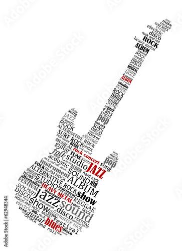 ksztalt-gitary-elektrycznej-zlozony-z-tekstu-muzycznego