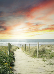 Fototapeta Walkway to beach