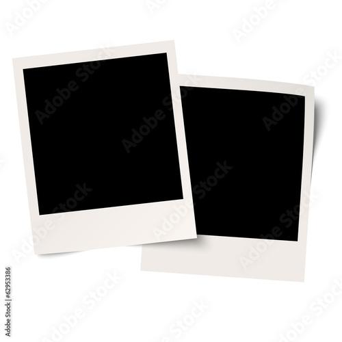 Fototapeta leere Polaroid mit Klebeband obraz na płótnie