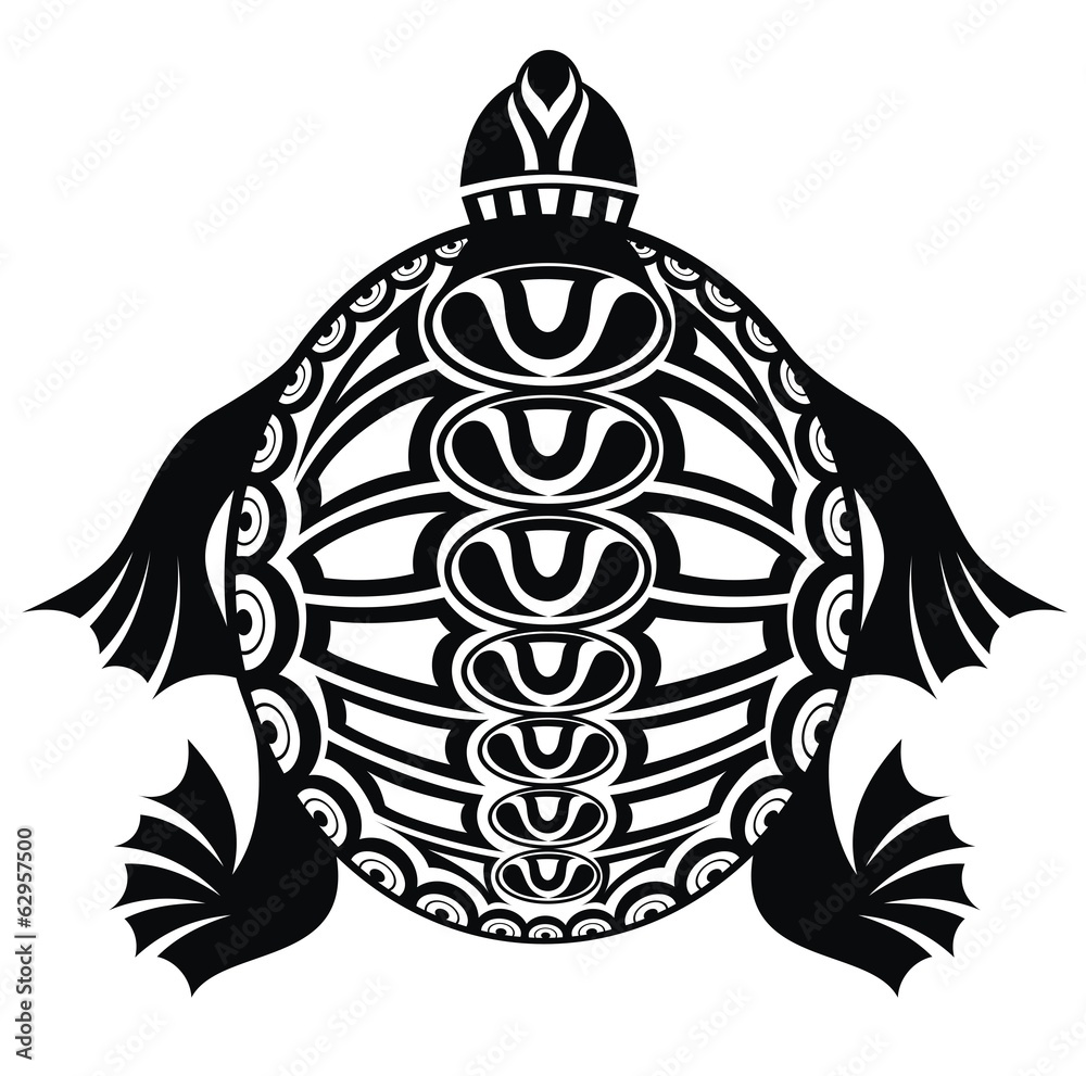Fototapeta Laminowana Na ścianę żółw Projekt Tatuażu