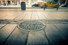 Manhole Drain Cover On Streets...