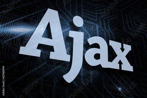 Photo  Ajax against futuristic black and blue background