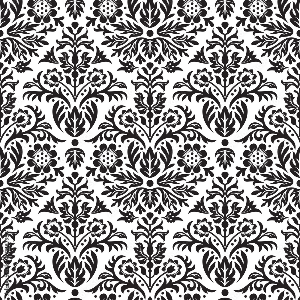 Damask Seamless Floral Pattern Background