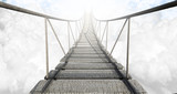 Fototapeta Bridge - Rope Bridge Above The Clouds