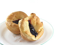 Homemade Popovers With Black Raspberry Jelly