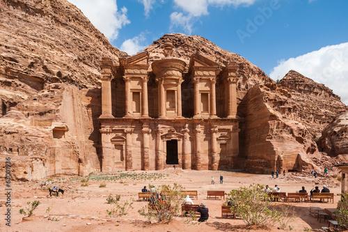 Fotografie, Obraz  El Deir nebo klášter v Petra, Jordánsko