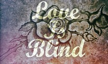 Love Is Blind Message Stone Rose Background