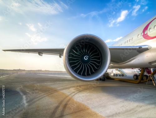 Fotografie, Obraz  Aircraft Jet Engine