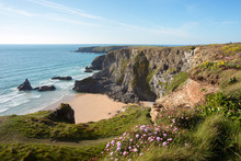 Bedruthan Steps Cornwall Uk
