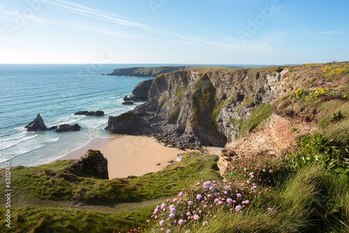 Bedruthan Steps Cornwall Uk Poster