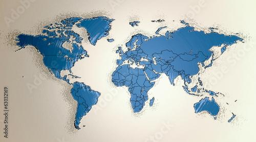 Fototapeta mapa mapa-swiata-3d