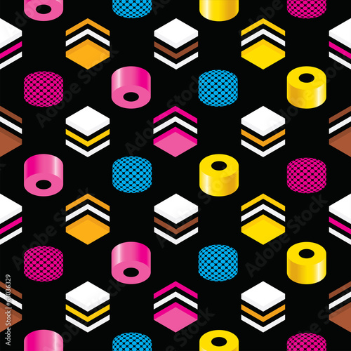 Seamless Liquorice Allsorts Background Texture Canvas Print
