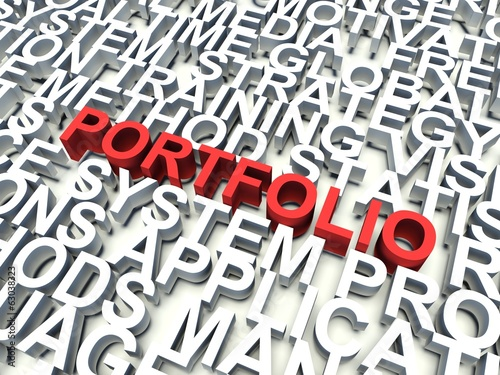 word portfolio in red keywords concept buy this stock