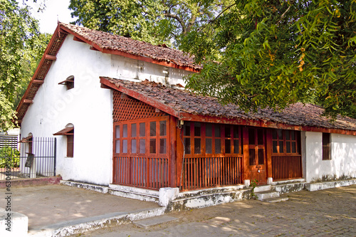House of Mahatma Gandhis disciples in Sabarmati Ashram Canvas Print