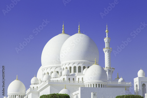 Photo  Beautiful Sheikh Zayed Mosque in Abu Dhabi city, UAE