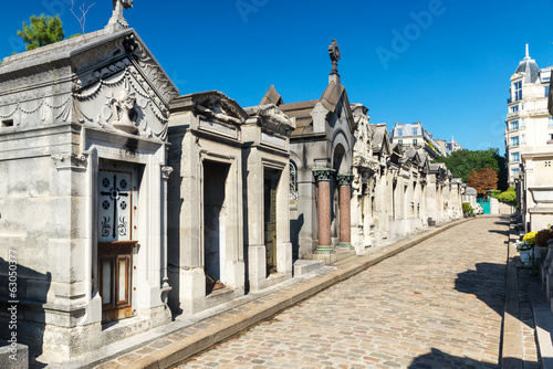 Foto op Canvas Begraafplaats Montmartre Cemetery in Paris