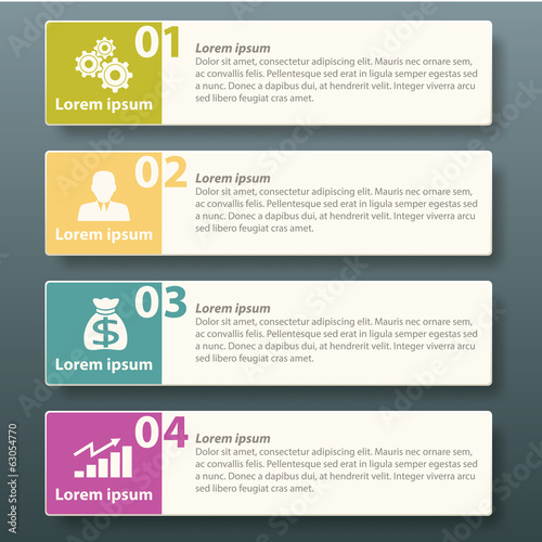 Infographic label template design for business advertise - Buy this