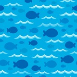 Seamless background fish shadows 1