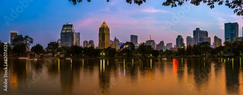 Bangkok city night view Canvas Print