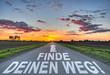 canvas print picture - Finde deinen Weg