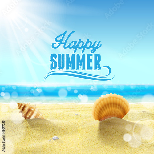 Photo  happy summer