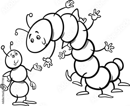 ant and caterpillar coloring page – kaufen Sie diese ...