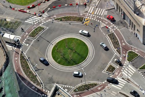 Fotografie, Obraz  Milano dall'alto - rotonda e traffico stradale