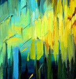 abstract painting for an interior, illustration