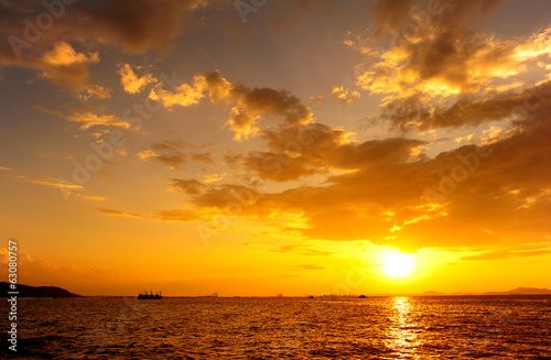 Sea Sunset and Cloudscape